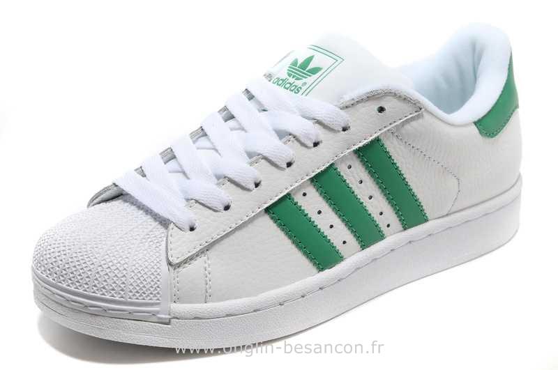 adidas superstar homme blanche et verte