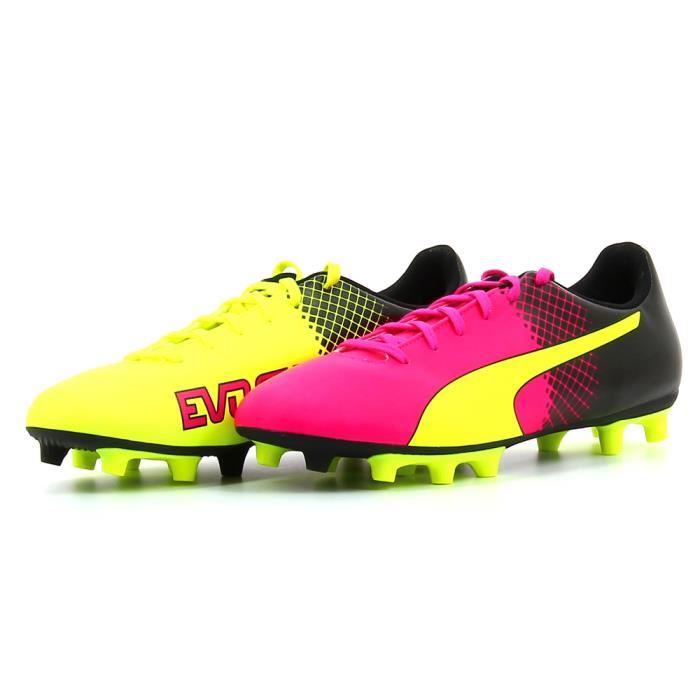 chaussure de foot puma rose et bleu pas cher